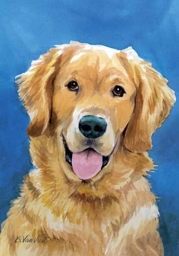 Golden Retriever House Flag