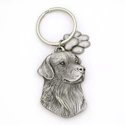 Golden Retriever Keychain Pewter