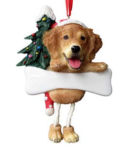 Golden Retriever Christmas Tree Ornament - Personalize