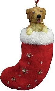 Golden Retriever Christmas Stocking Ornament
