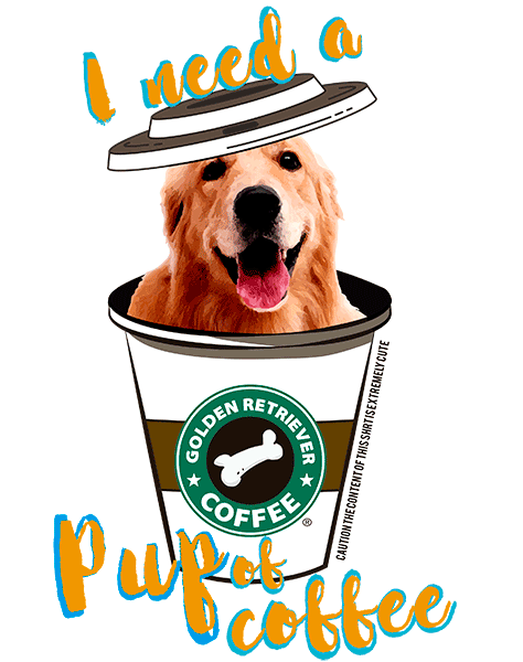 Golden Retriever T Shirt - Coffee Mug