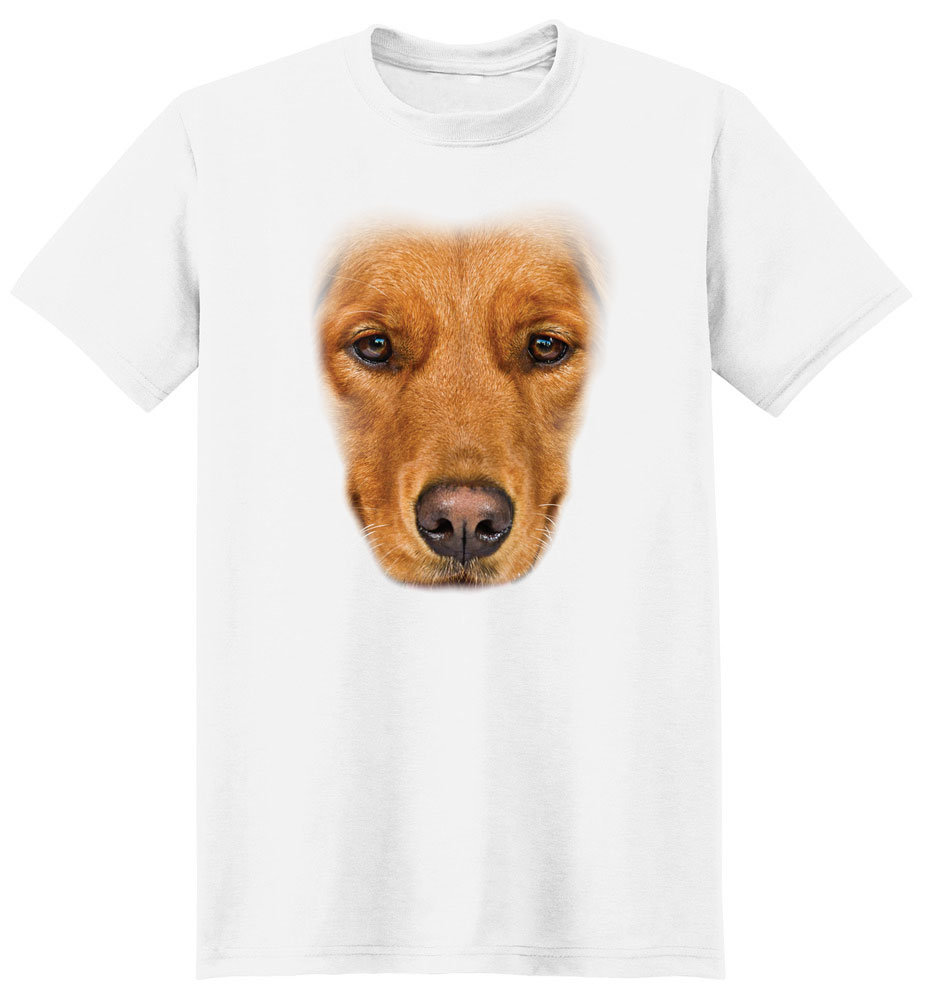 Golden Retriever T Shirt Full Face