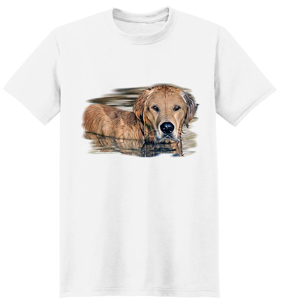 Golden Retriever T Shirt Golden Morning