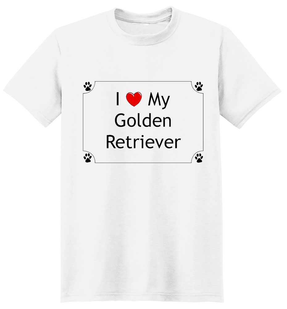Golden Retriever T-Shirt - I love my