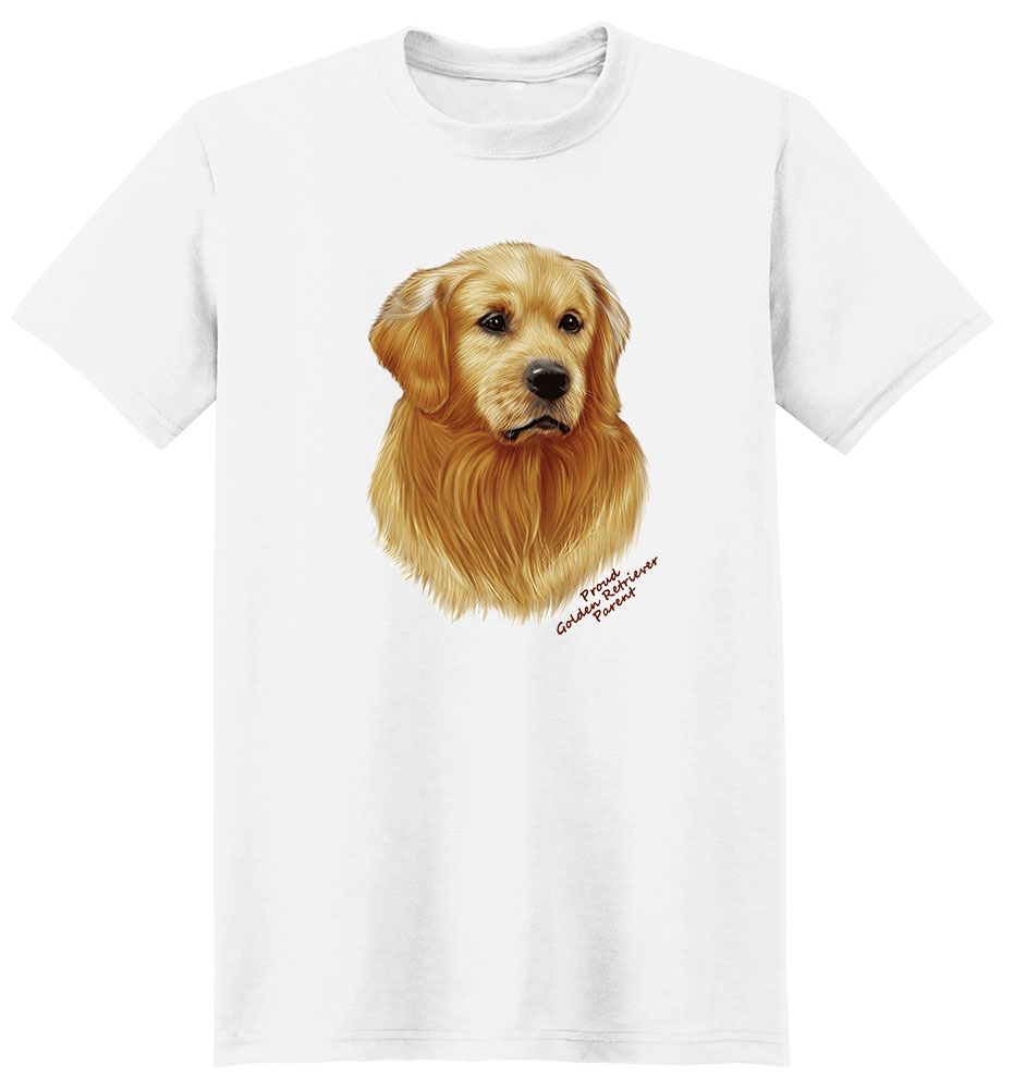 Golden Retriever T Shirt - Proud Parent