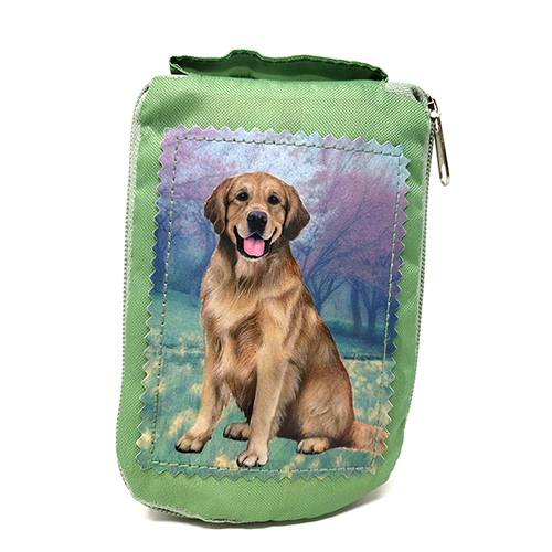 Golden Retriever Tote Bag - Foldable to Pouch