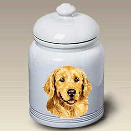 Golden Retriever Treat Jar