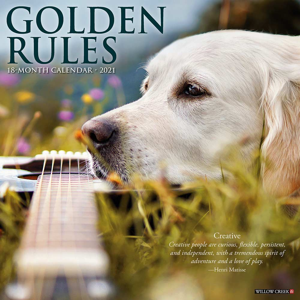2021 Golden Rules Calendar