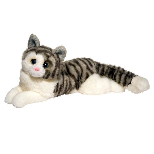 Gray Cat Plush Stuffed Animal 19 Inch