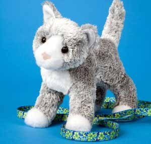 Gray Cat Stuffed Plush Animal