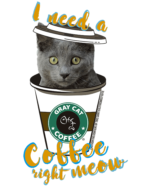 Gray Cat T Shirt - Coffee Mug