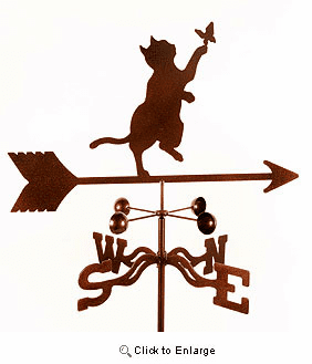 Gray Cat Weathervane