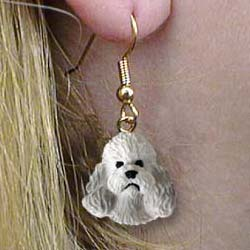 Gray Poodle Authentic Earrings