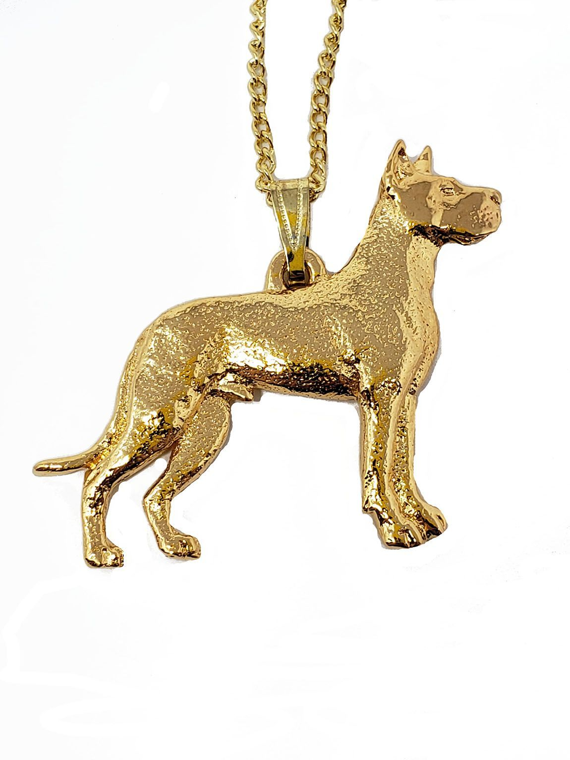 Great Dane 24K Gold Plated Pendant with Necklace