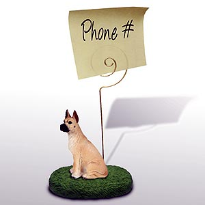 Great Dane Note Holder (Fawn)