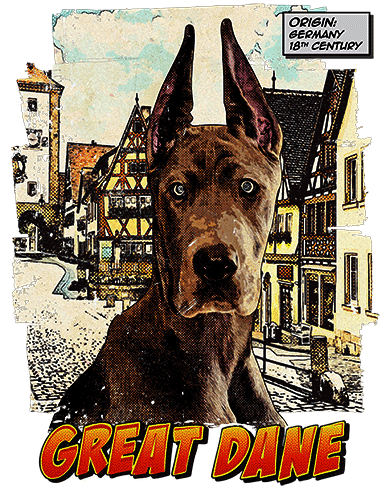 Great Dane T-Shirt Ancestry Cropped
