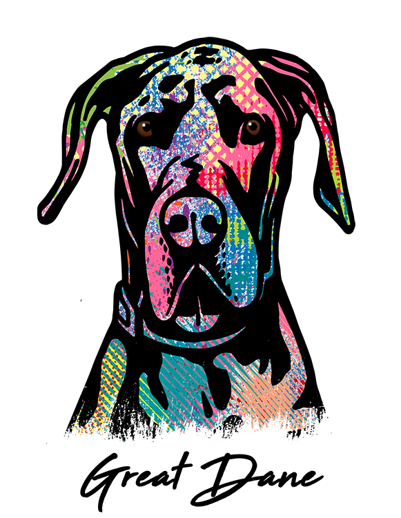 Great Dane T Shirt Colorful Abstract