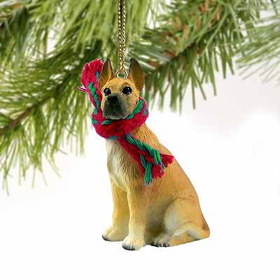 Great Dane Tiny One Christmas Ornament Fawn