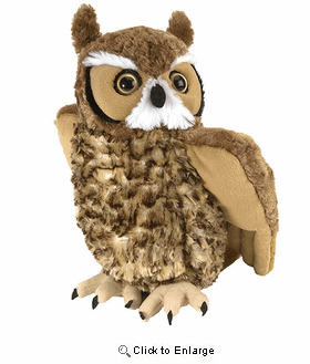 Great Horned Owl Cuddlekins Plush Animal 14""