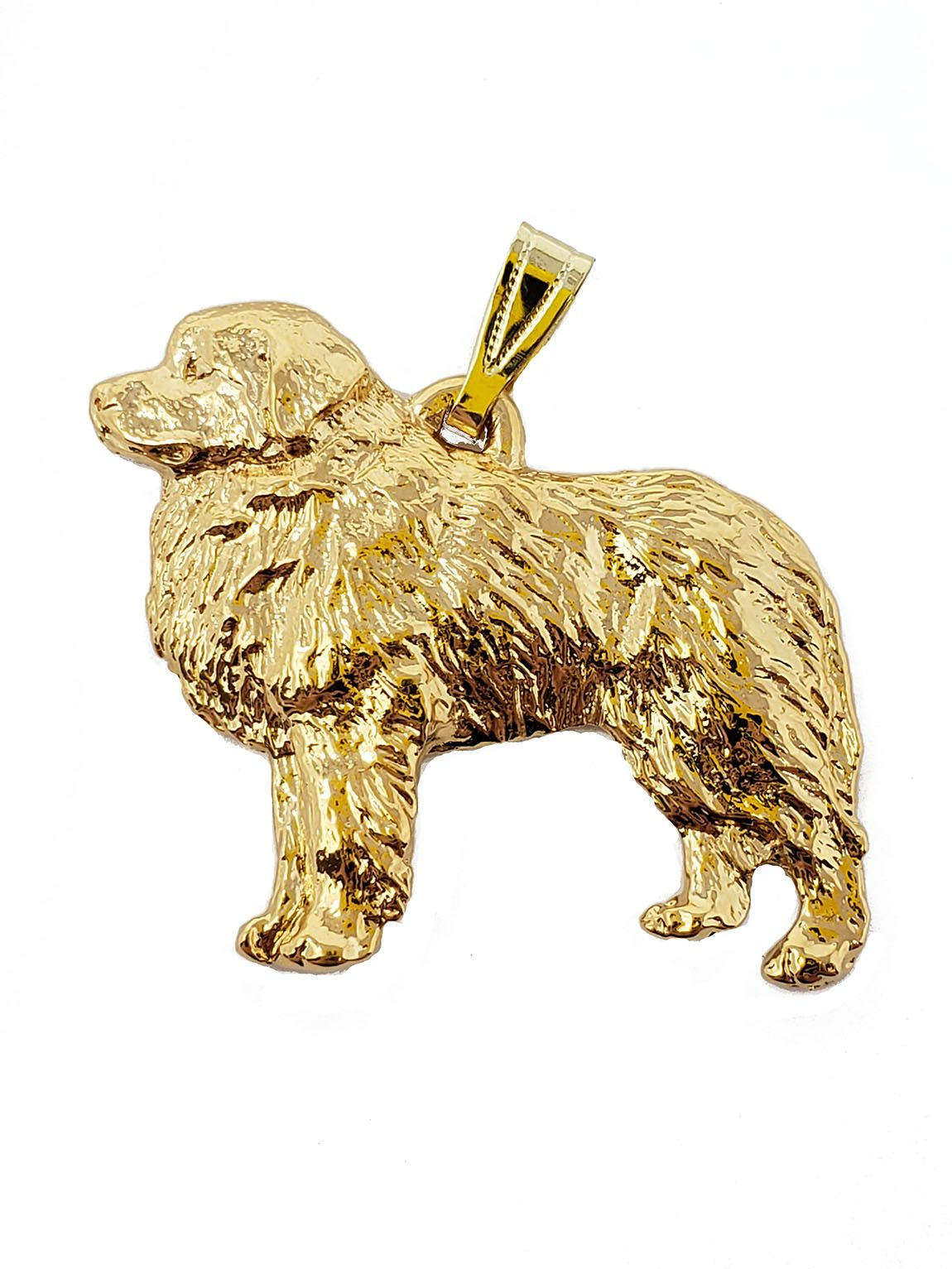 Great Pyrenees 24K Gold Plated Pendant