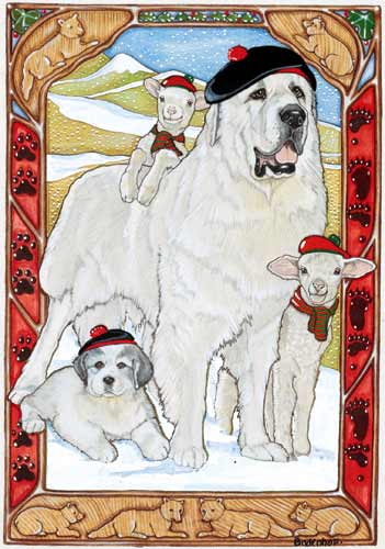 Great Pyrenees Christmas Cards