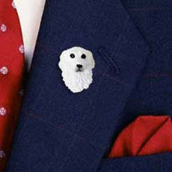 Great Pyrenees Pin Hand Painted Resin