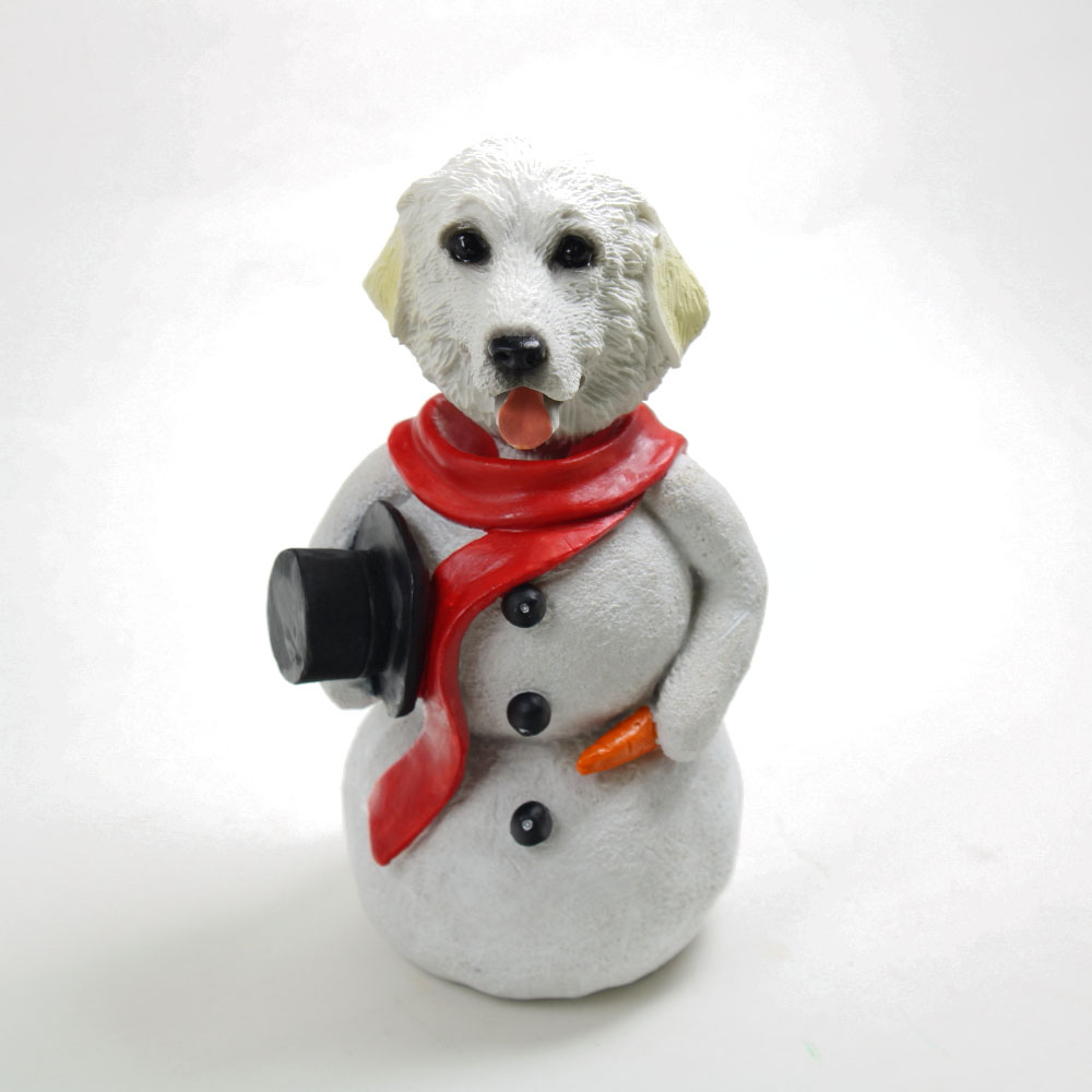 Great Pyrenees Snowman Christmas Decoration