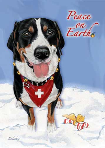Greater Swiss Mountain Dog Christmas Cards