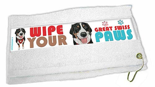 Greater Swiss Mountain Dog Paw Wipe Towel