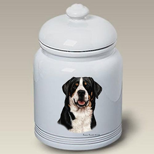 Greater Swiss Mountain Dog Treat Jar