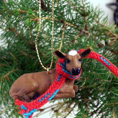 Guernsey Cow Tiny One Christmas Ornament