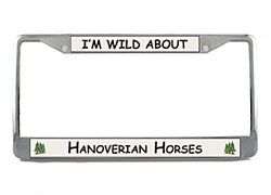 Hanoverian Horse License Plate Frame