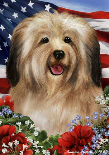 Havanese House Flag Cream