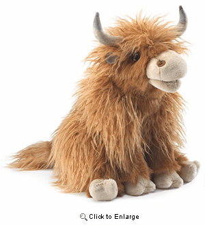 Highland Cow Hand Puppet 16""
