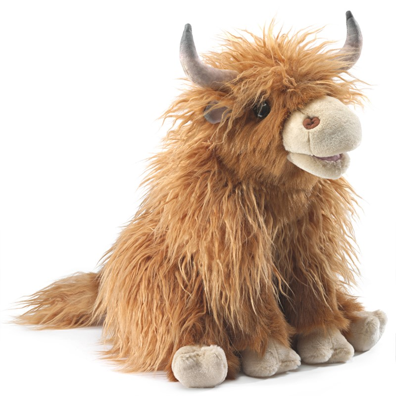 Highland Cow Hand Puppet 16