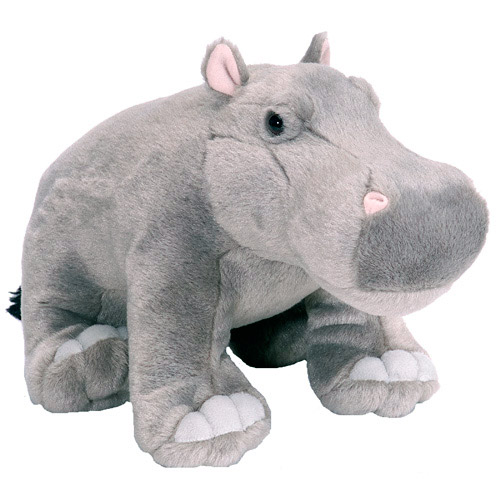 Hippo Cuddlekins Plush Animal 14