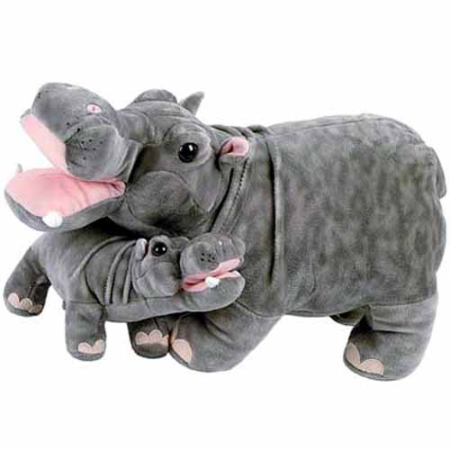 Hippo With Baby Plush Stuffed Animal 18