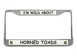 Horned Toad License Plate Frame