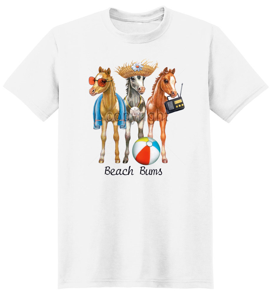 Horse T Shirt Beach Bums