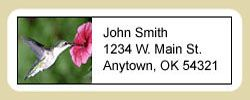 Hummingbird Address Labels
