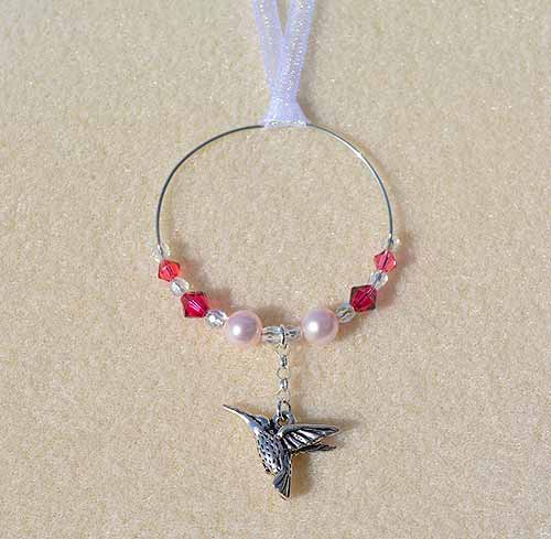 Hummingbird Car Charm - Sun Catcher