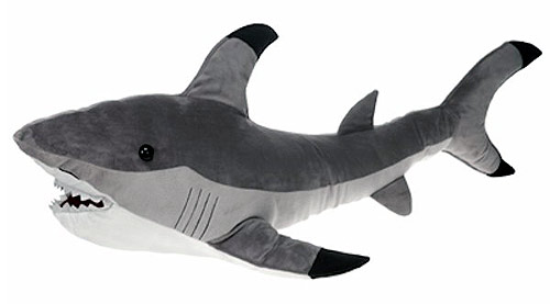 Hunter Gray Shark Plush Stuffed Animal 16