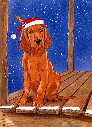 Irish Setter Christmas Cards