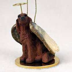 Irish Setter Christmas Ornament Angel