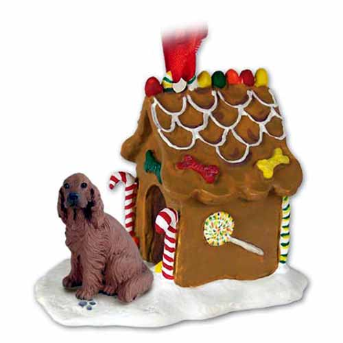 Irish Setter Gingerbread House Christmas Ornament