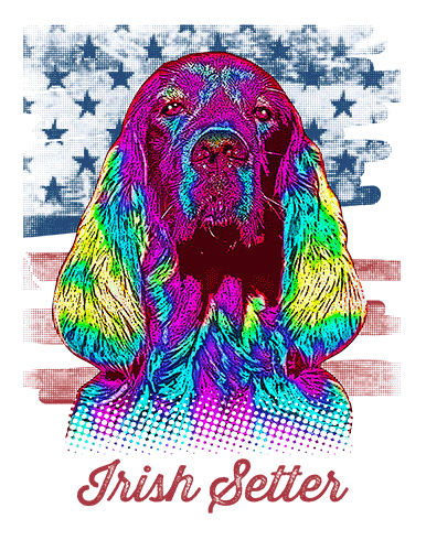 Irish Setter T Shirt American Flag