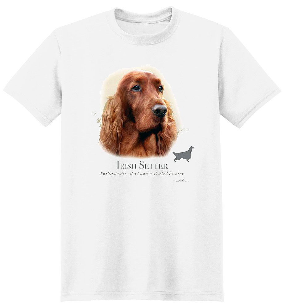 Irish Setter T Shirt by Howard Robinson