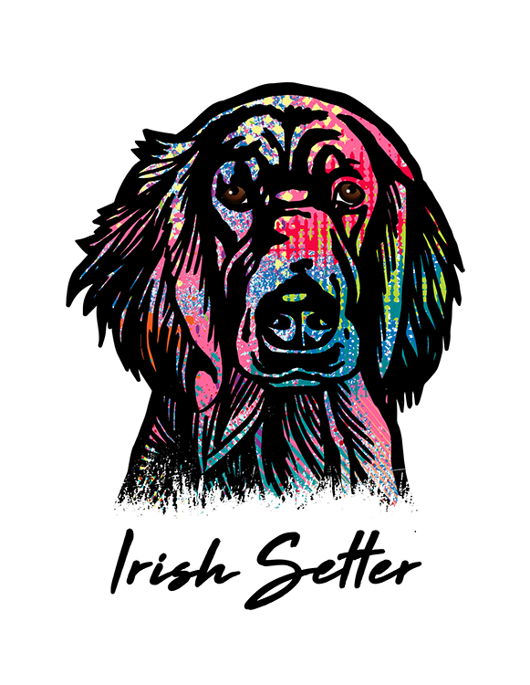 Irish Setter T Shirt Colorful Abstract