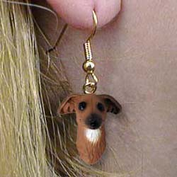 Italian Greyhound Authentic Earrings