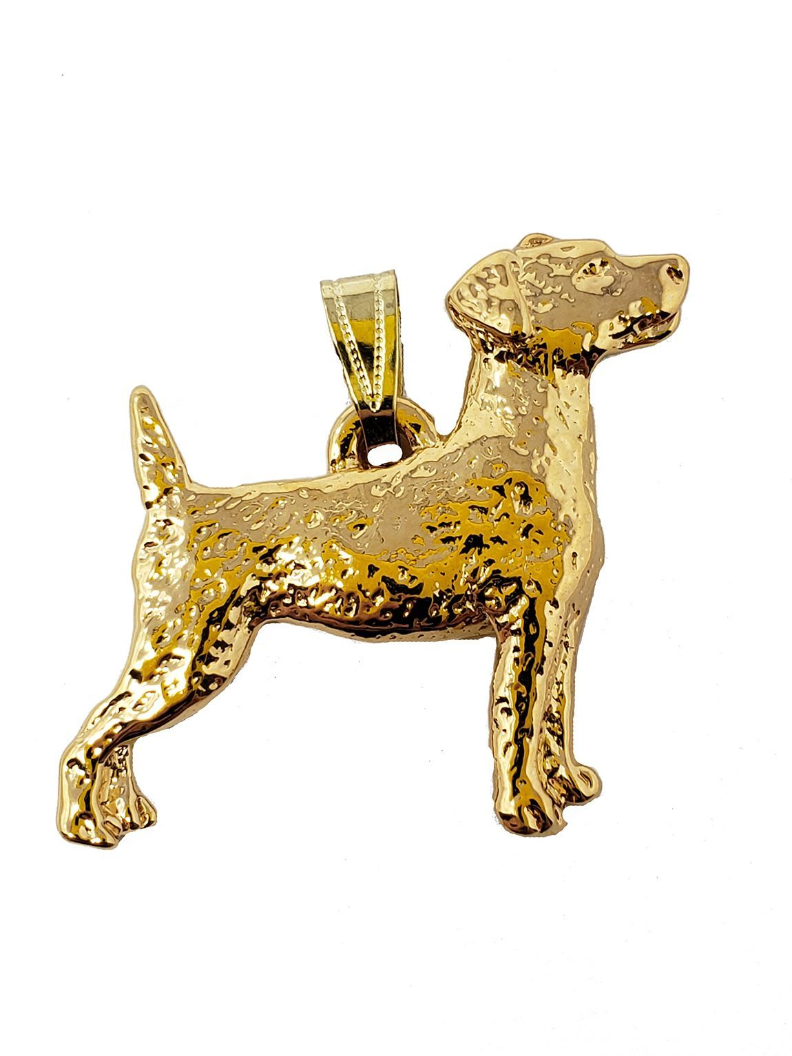Jack Russell Terrier 24K Gold Plated Pendant